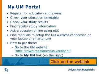 My UM Portal