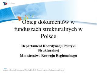 Obieg dokumentów w funduszach strukturalnych w Polsce