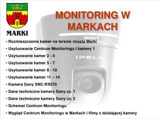MONITORING W MARKACH