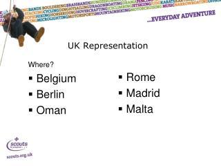 UK Representation
