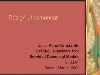 Design -ul comunitar