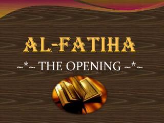 Al- Fatiha