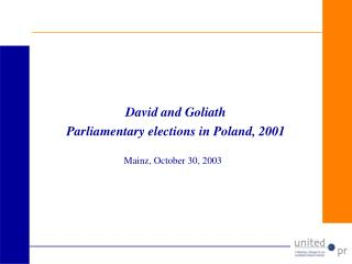 David and Goliath Parliamentary elections in Poland, 2001
