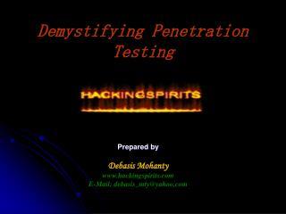 Demystifying Penetration Testing
