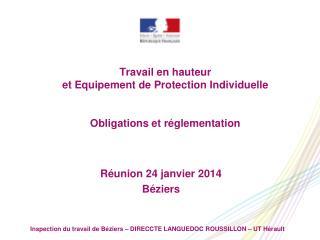 Travail en hauteur  et Equipement de Protection Individuelle  Obligations et réglementation