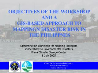 Center for Environmental Geomatics Climate Studies Division Manila Observatory