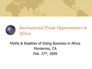 International Trade Opportunities in Africa