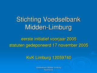 Stichting Voedselbank Midden-Limburg
