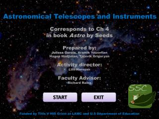 Astronomical Telescopes and Instruments