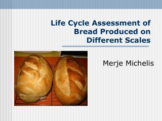 Life Cycle Assessment of Bread Produced on Different Scales