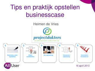 Tips en praktijk opstellen businesscase