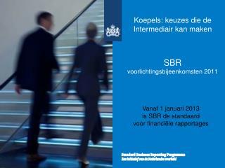Koepels: keuzes die de Intermediair kan maken SBR  voorlichtingsbijeenkomsten 2011