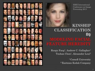 KINSHIP CLASSIFICATION  B Y MODELING FACIAL FEATURE HEREDITY