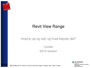 Revit View  Range