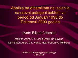 avtor: Biljana \oneska mentor: Asist. D-r. Elena Doki} Trajkovska
