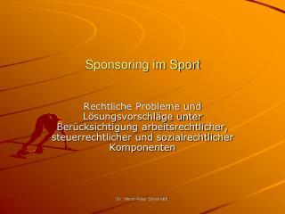 Sponsoring im Sport