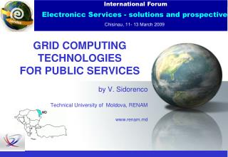 GRID COMPUTING TECHNOLOGIES  FOR PUBLIC SERVICES