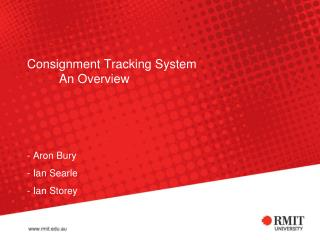 Consignment Tracking System An Overview