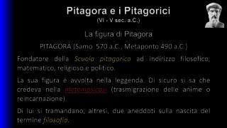 La figura di Pitagora