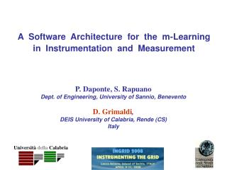 A  Software  Architecture  for  the  m-Learning in  Instrumentation  and  Measurement