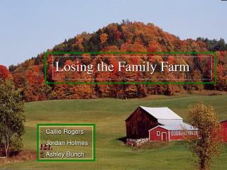 Losing the Family Farm