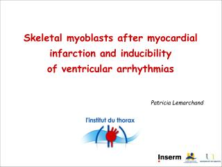Skeletal myoblasts after myocardial infarction  and inducibility  of ventricular arrhythmias