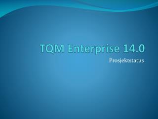 TQM Enterprise 14.0