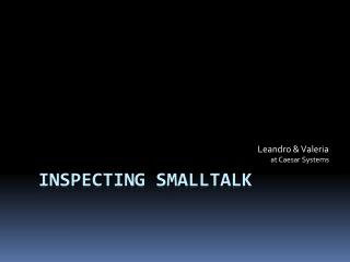 Inspecting  smalltalk