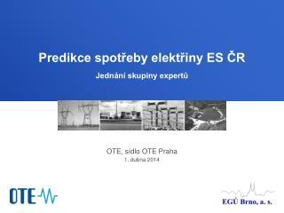 OTE, sídlo OTE Praha 1. dubna 2014