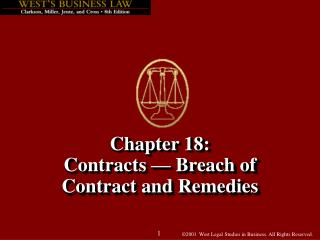Chapter 18: Contracts   Breach of Contract and Remedies