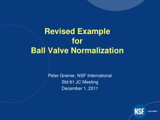 Revised Example  for Ball Valve Normalization