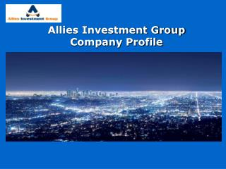 Allies Investment Group Company Profile