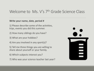 7th Grade Test Talk
