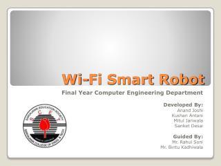Wi-Fi Smart Robot