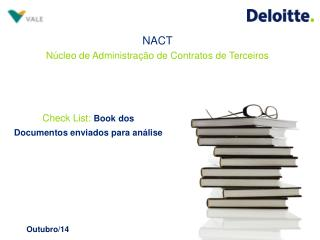 Check List :  Book dos Documentos enviados para análise