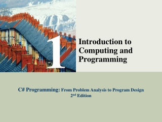 An Introduction to Programming with C Fifth Edition
