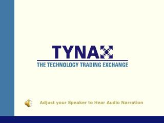 Adjust your Speaker to Hear Audio Narration