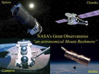NASA�s Great Observatories �an astronomical Mount Rushmore�
