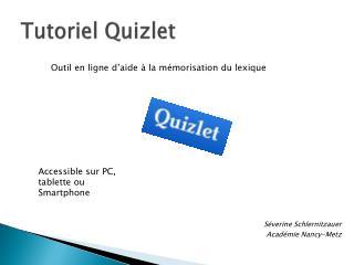 Tutoriel Quizlet