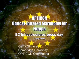 OPTICON Optical-Infrared Astronomy for Europe