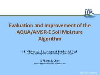 Evaluation and Improvement of the AQUA/AMSR-E Soil Moisture Algorithm