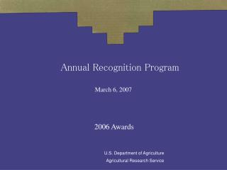 Annual Recognition Program