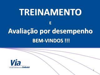 TREINAMENTO E Avalia  o por desempenho  BEM-VINDOS