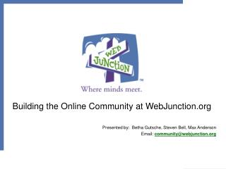 Building the Online Community at WebJunction