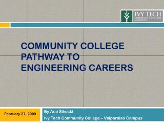 Community College Pathway to engineering careers