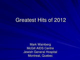 Greatest Hits of 2012