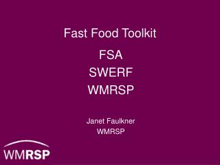 Fast Food Toolkit