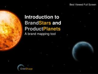 Introduction to Brand Stars and Product Planets