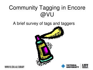 Community Tagging in Encore @VU