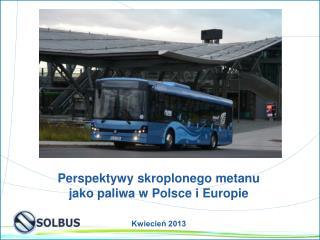 Perspektywy skroplonego metanu  jako paliwa w Polsce i Europie Kwiecień 2013
